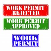 Stamps Work Permit