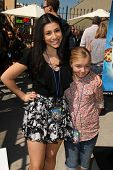 LOS ANGELES - APR 11:  Elsie Fisher, Dana Gaier at the Despicable Me Minion Mayhem  and Super Silly