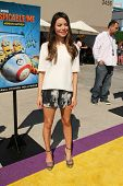 LOS ANGELES - APR 11:  Miranda Cosgrove at the Despicable Me Minion Mayhem  and Super Silly Fun Land