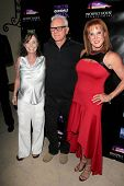 LOS ANGELES - APR 15:  Eileen Dietz, Malcolm McDowell, Spice Williams-Crosby at the