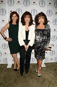 LOS ANGELES - APR 22:  Marilu Henner, Jackie Collins, Joan Collins at the Women's Guild Cedars-Sinai