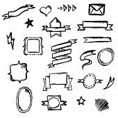 Hand Draw Symbols, Vector Illustration