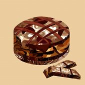 chocolate cake polygon