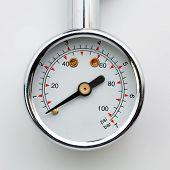pic of air pressure gauge  - Close up tire - JPG