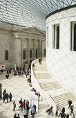 LONDON, UK - APRIL 15, 2014: The centre of the British Museum was redeveloped in 2001 to become the Great Court.