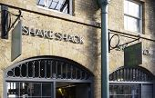 LONDON, UK - APRIL 16, 2014: The first Shake Shack fast food restaurant in the UK, Covent Garden, Lo