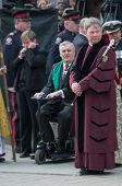 David Onley at Jim Flaherty State Funeral In Toronto, Canada