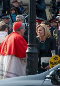 Christine Elliott and Thomas Collins at Jim Flaherty State Funeral In Toronto, Canada