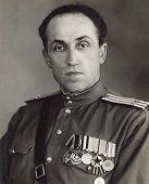 Ussr - Circa 1953: Studio Photo Portrait Of Colonel Of The Soviet Army.
