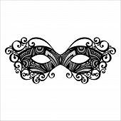 Beautiful Masquerade Mask (Vector), Patterned design