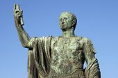 stock photo of tyranny  - Statue of emperor Nerva in Rome - JPG