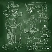 Child's Hand Drawn Car Element