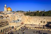 JERUSALEM, ISRAEL - NOVEMBER 15, 2012: Western wall (Wailing Wall) in Jerusalem.  This is a sacred p
