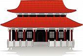 Chinese house illustration