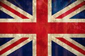 Digitally generated union jack flag in grunge effect