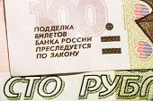 One hundred Russian banknotes