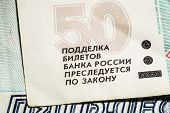 Fifty Russian banknotes