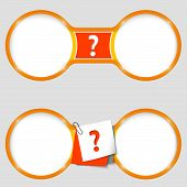 Two Circles For Text With A Question Mark