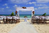 Wedding Preparation On A Mexican Beach