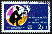 Postage Stamp France 1983 World Communications Year