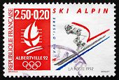 Postage Stamp France 1992 Speed Skiing