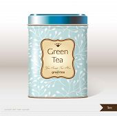 Vector box tea with place for your text.