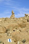 Summit Cairn In Negev Desert.