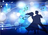 image of musical scale  - Ballroom dancers - JPG