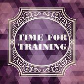 Time for Training Concept. Purple Vintage design.