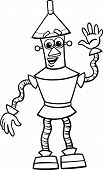 Fanatasy Robot Cartoon Coloring Page