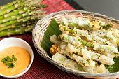 Tempura Asparagus Thai Appetizer
