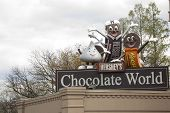 Chocolate World Sign