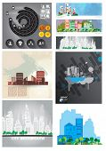 Cityscape set, vector