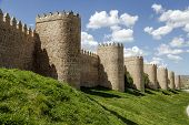 Scenic Medieval City Walls Of Avila