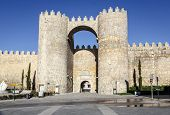 Gate In The City Walls Of Avila