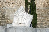 Statue Of St. Teresa In Avila Spain