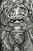 dragon carving decor at buddhism temple
