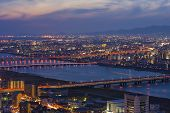Night view of the city of Japan