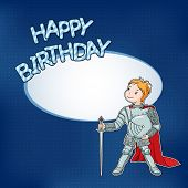 Birthday Card With Little Knight