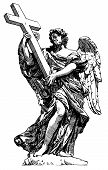 digital drawing marble statue of angel from the Sant'Angelo