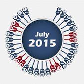 Vector calendar 2015 July template