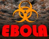 Ebola sign warning - 3D render