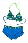 Trendy Blue Striped Swimsuit