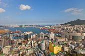 View Of Busan City And Port, South Korea