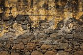 Old Wall, Built Of Rough Brick