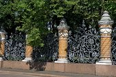 Ornamental Lattice In Summer Garden, St Petersburg