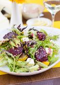 Vegetarian Salad With Beetroot In The Restaurant
