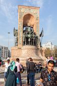 Monument 'republic' In Taksim Square