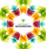 Geometric design flower, abstract background