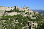 view of ancient french town Gordes